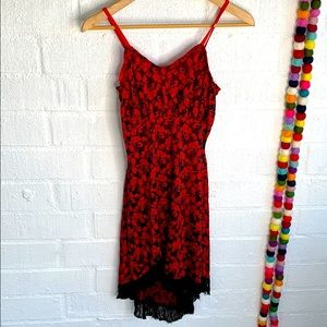 Weissman Black and Red Jazz Costume Fringe sz SA